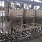 CIP tube machine cleaning system