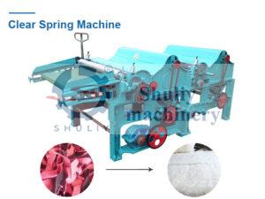 Clear spring machine