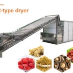 Continuous conveyor drying machine