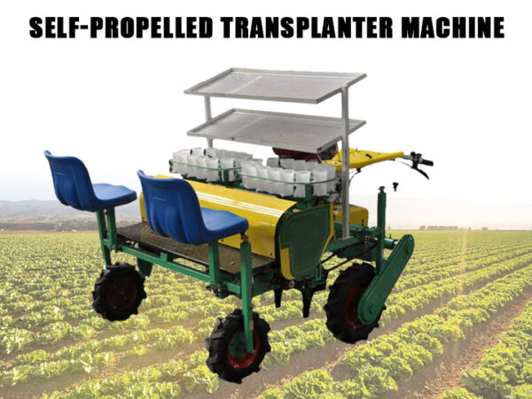 Self-propelled transplanter machine