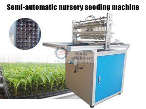 Semi-automatic nursery seeding machine