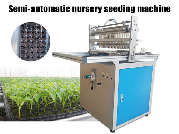 Semi-automatic nursery seeding machine