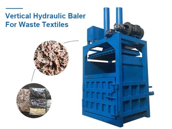 Vertical Hydraulic Baler For Waste Textiles