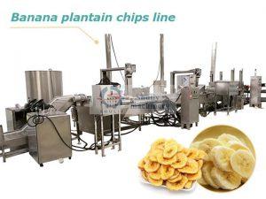 banana plantain chips line
