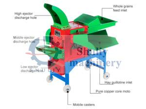 chaff cutter and grain grinding machine