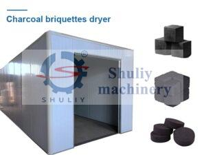 charcoal briquettes dryer machine