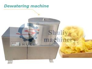 chips and fries de-oiling machine