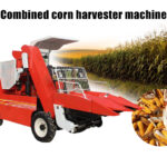 combine corn harvester machine