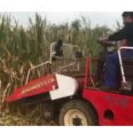 combined corn harvester