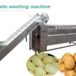 continuous potato cleaning machine
