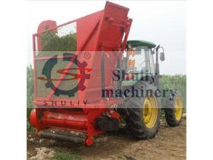 corn stalk harvester machine