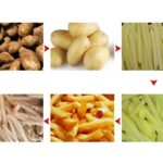 frozen french fries process step