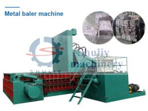 hydraulic metal baler machine