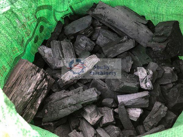 log charcoal