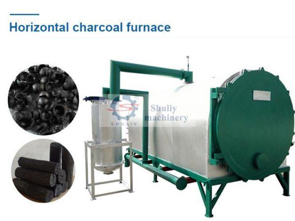 log charcoal furnace