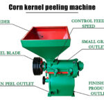 maize peeling machine