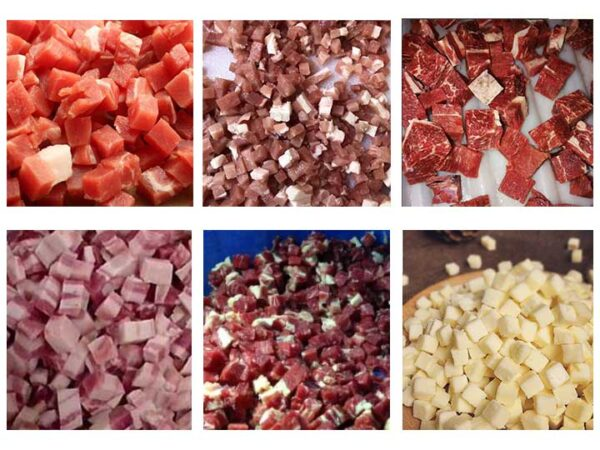 meat dicer machine dicing effect