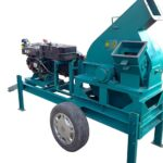 movable wood chipper machine