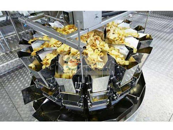 potato chips packing machine