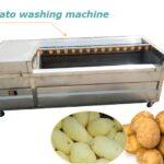 potato washing peeling machine