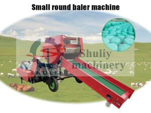 small round silage baler machine
