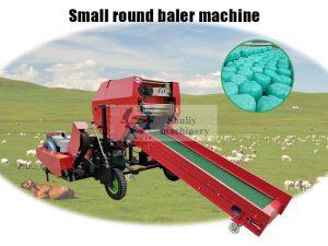 small round silage baler machine