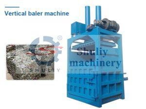 vertical metal baler machine