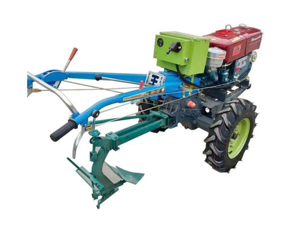 walking tractor with plow
