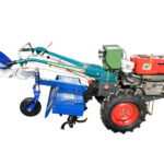 walking tractor with rotary machine