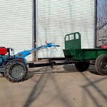 walking tractor with trailer