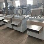 Almond slice cutting machines