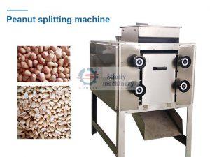 peanut splitting machine with peanut kernels and peanut halves