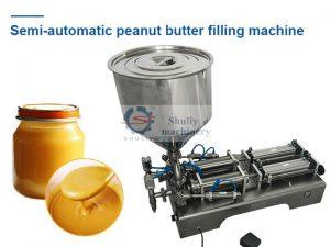 Semi-automatic peanut butter filling machine