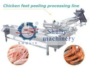 chicken feet peeling production line