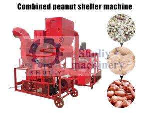 combined peanut sheller machine