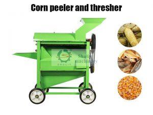 corn peeler and thresher