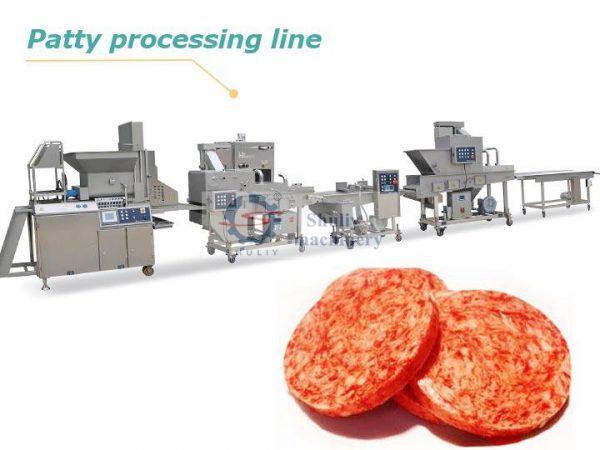 hamburger patty production line