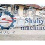 large continuous industrial frying machine