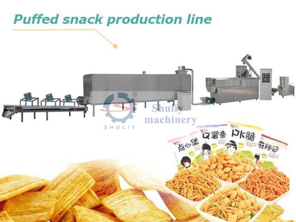 puffed snack production line
