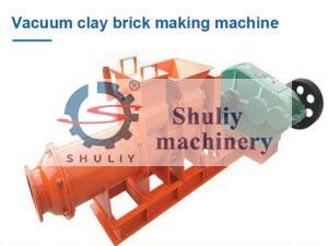 Vacuum clay brick making machine