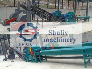 complete wood wastes crushing unit